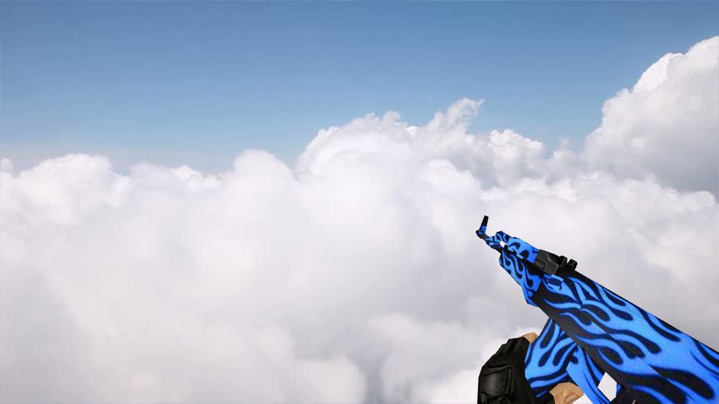 «AK-47 Blue Flame» для CS 1.6