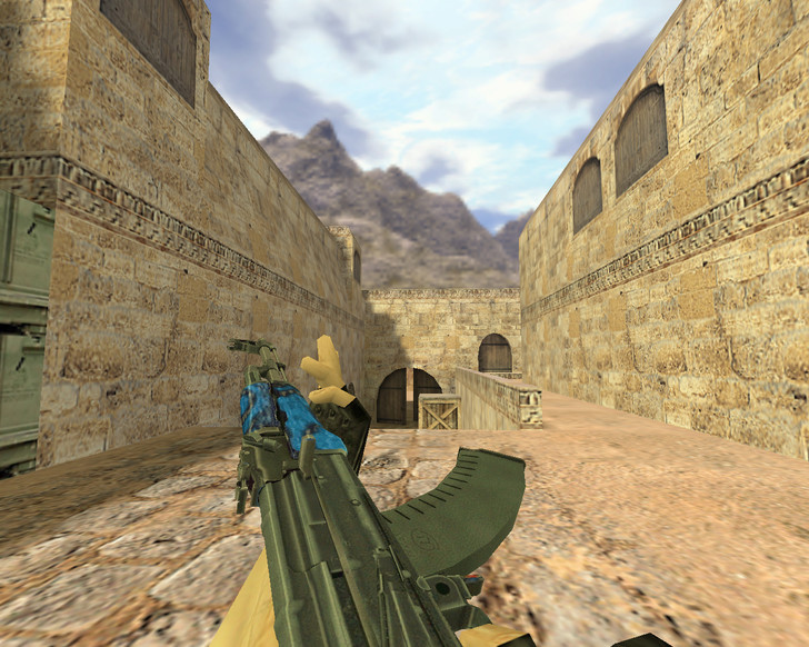 «АК-47 Синий ламинат» для CS 1.6