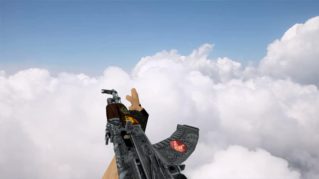 «АК-47 «Картель» с наклейками» для CS 1.6