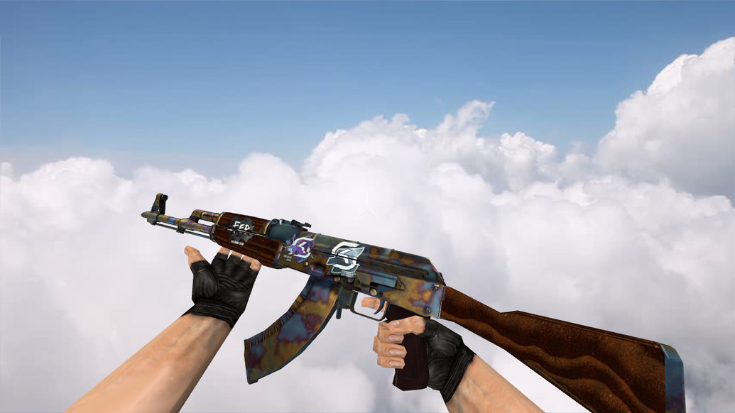 «AK-47 Case Hardened w/ stickers» для CS 1.6