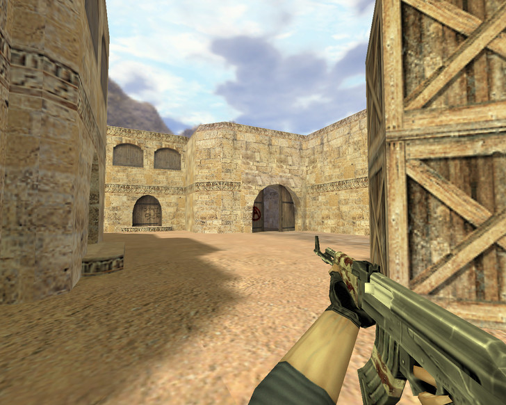«АК-47 Пустынный камуфляж» для CS 1.6