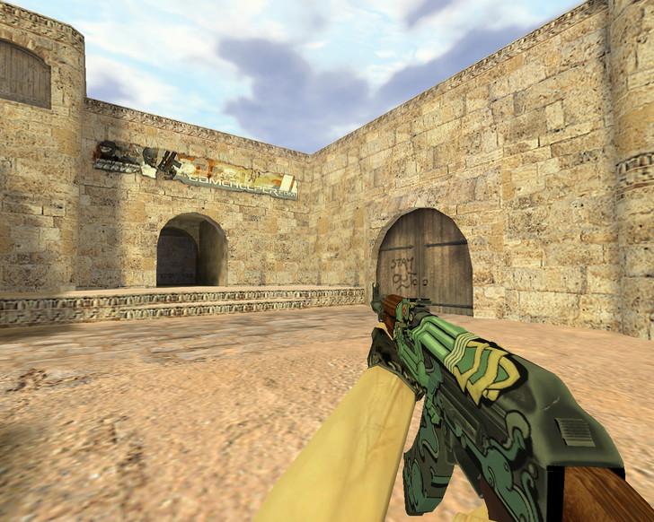 «АК-47 Огненный змей» для CS 1.6