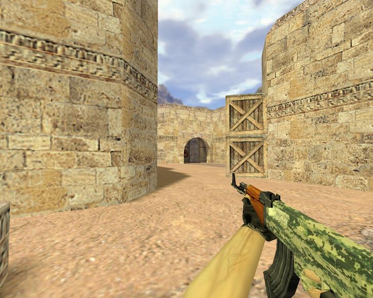 «АК-47 Лесной камуфляж» для CS 1.6