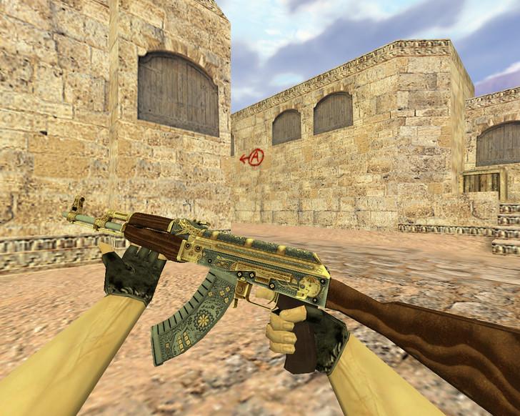 «АК-47 Золотой картель» для CS 1.6