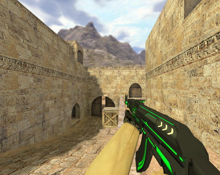 «АК-47 Зеленая линия» для CS 1.6