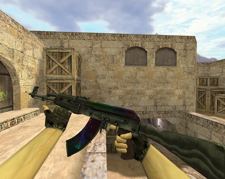 «АК-47 Неоновый туман» для CS 1.6