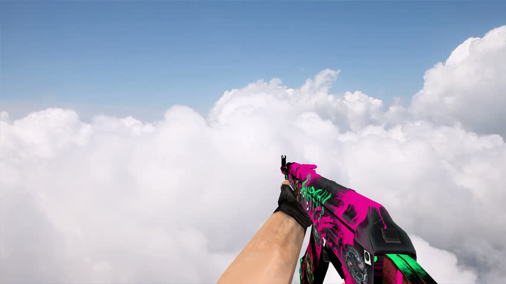 «AK-47 Neon Revolution w/ stickers» для CS 1.6
