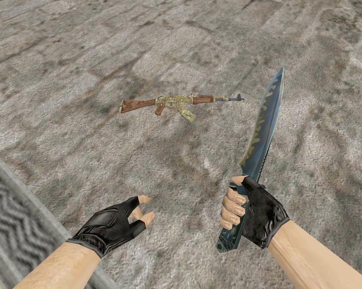 «AK-47 Panthera Onca + Спортивные перчатки «Крупная добыча»» для CS 1.6