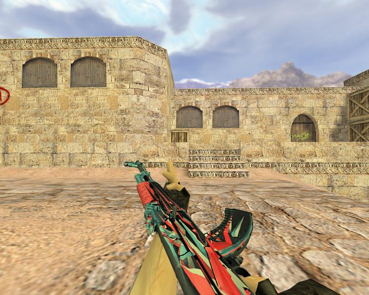«АК-47 Буйство красок» для CS 1.6