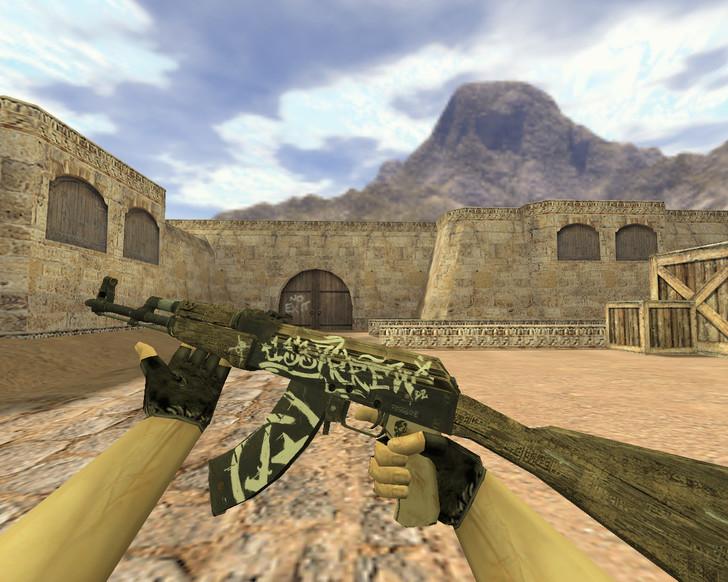 «АК-47 Пустынный повстанец» для CS 1.6