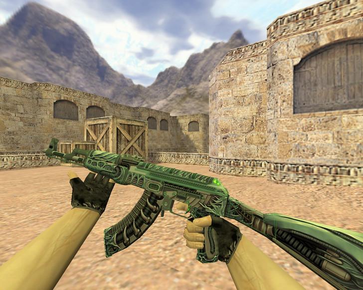 «АК-47 Ксеноморф» для CS 1.6