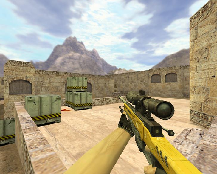 «AWP Уничтожитель Желтый» для CS 1.6