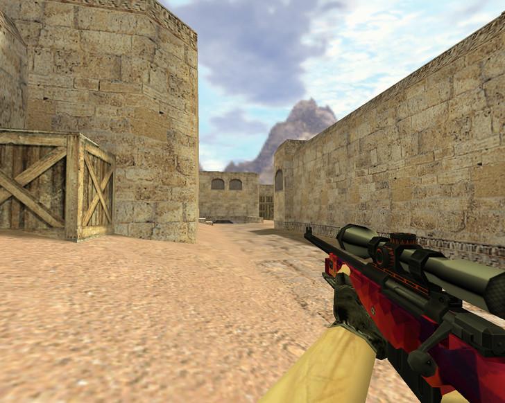 «AWP Красная мозайка» для CS 1.6