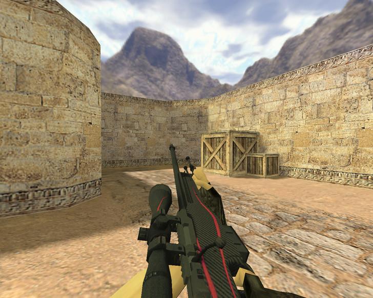«AWP Красная линия» для CS 1.6