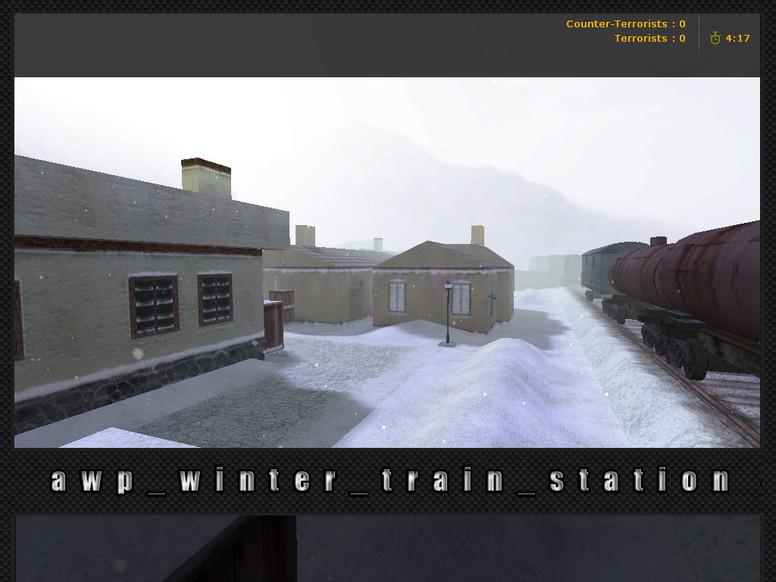«awp_winter_train_station» для CS 1.6