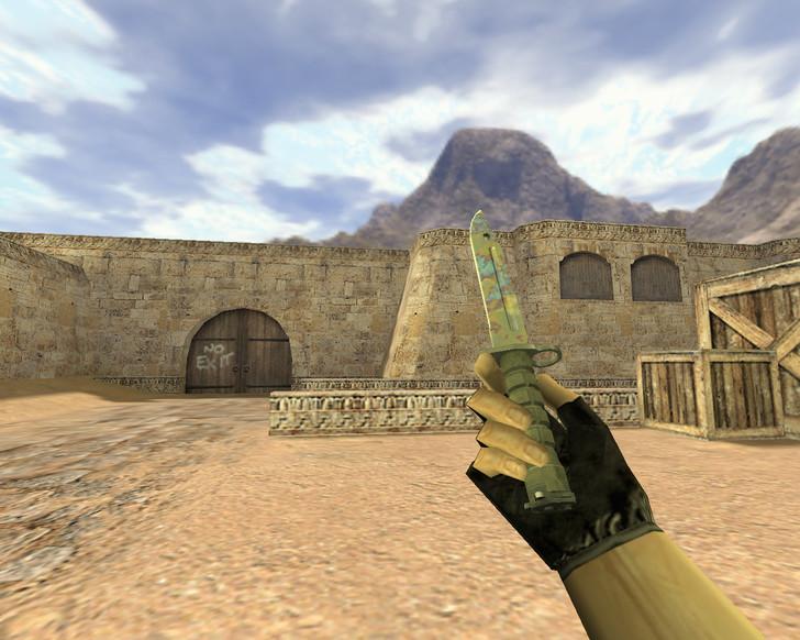 «Штык-нож Поверхностная закалка» для CS 1.6