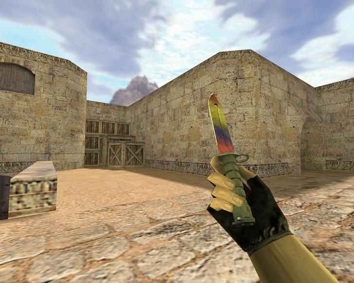 «Штык-нож Мраморный градиент» для CS 1.6