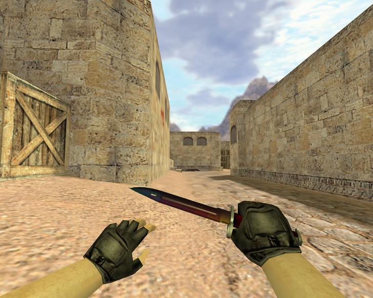 «Штык-нож Радуга» для CS 1.6