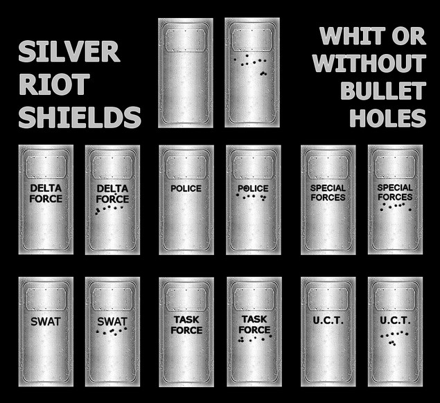 «Black and Silver Riot Shields» для CS 1.6