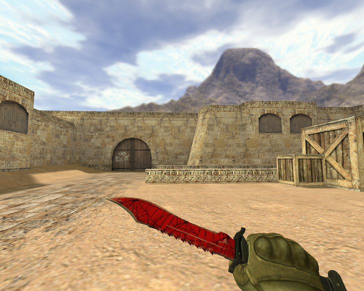 «Нож Боуи Кровавая паутина» для CS 1.6