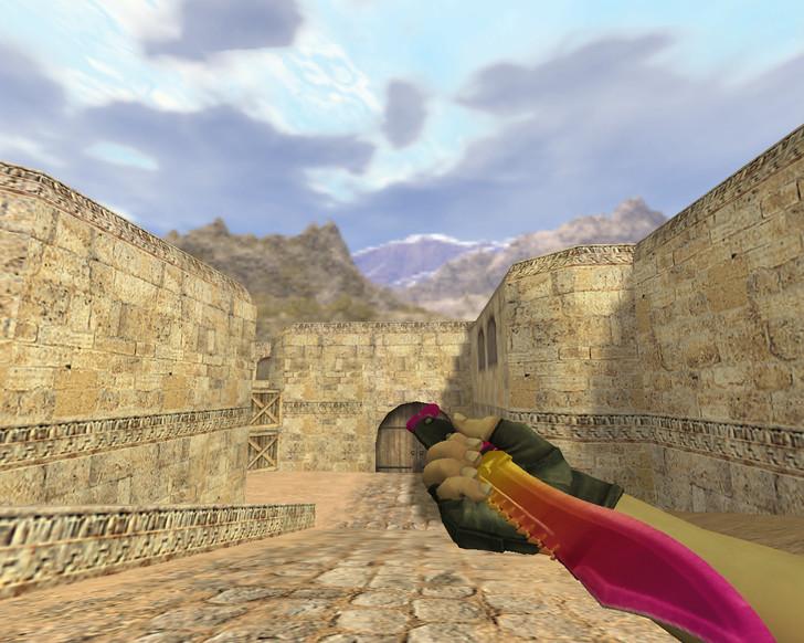 «Нож Боуи Градиент» для CS 1.6