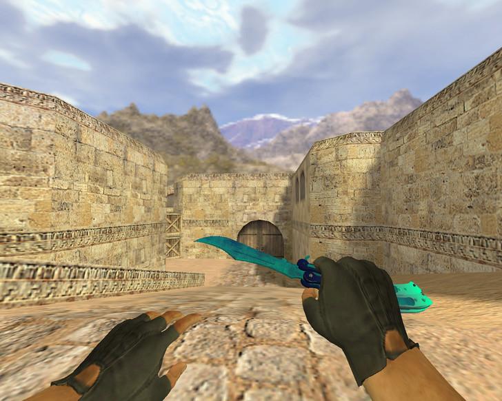 «Нож-бабочка Синее море» для CS 1.6