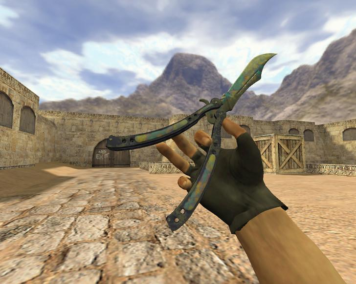 «Нож-бабочка Поверхностная закалка» для CS 1.6