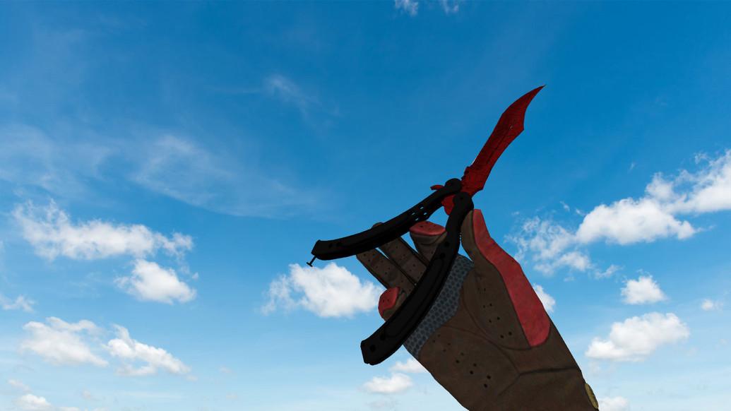 «Нож-бабочка Кровавая паутина» для CS 1.6