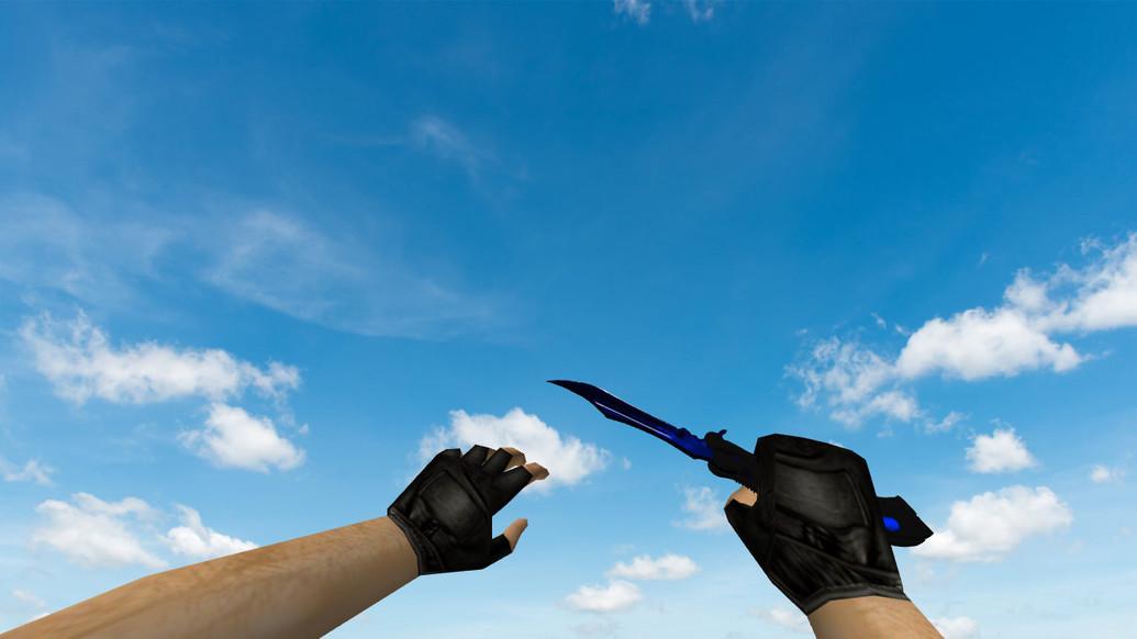 «Нож-бабочка «Волны-сапфир»» для CS 1.6