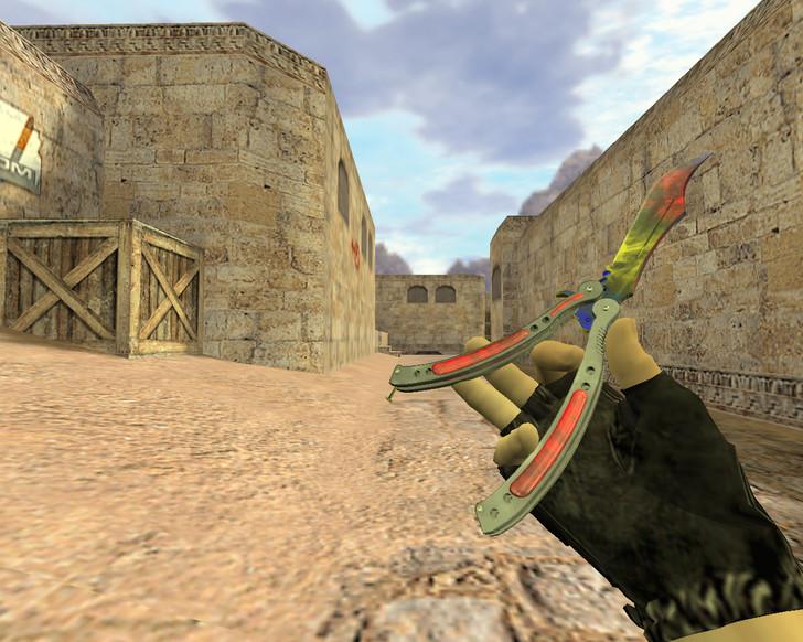«Нож-бабочка Мраморный градиент» для CS 1.6