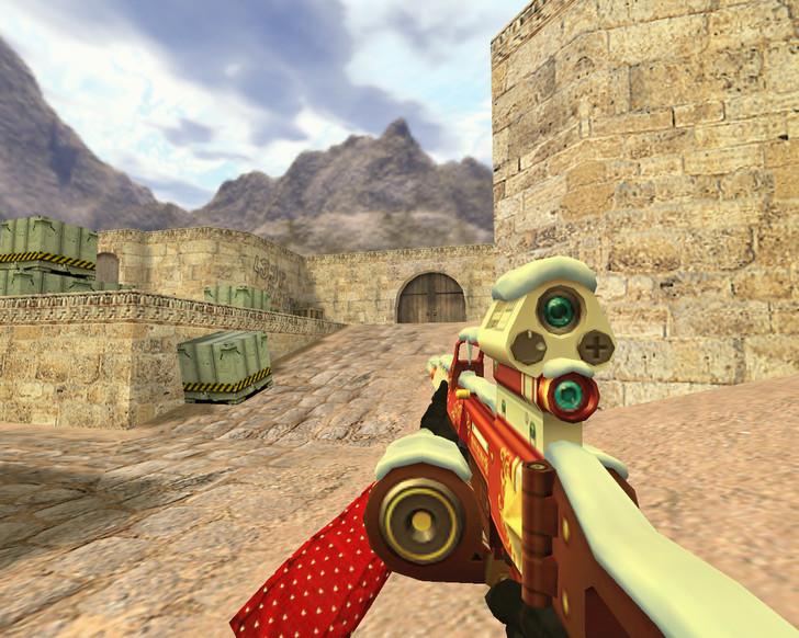 «Новогодний пулемет» для CS 1.6