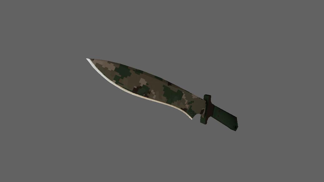 «Классический нож | Пиксельный камуфляж «Лес»» для CS 1.6