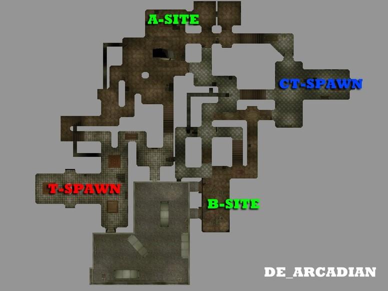 «de_arcadian_v1» для CS 1.6
