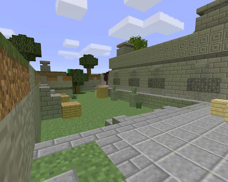 «de_aztec_minecraft» для CS 1.6