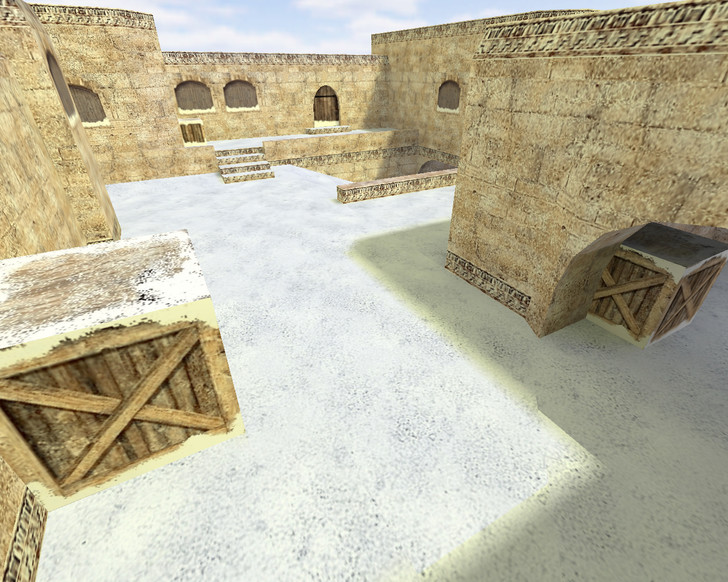 «de_dust2_2x2_snow» для CS 1.6