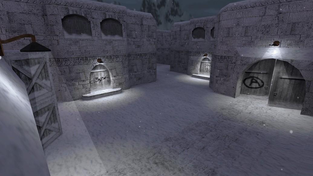 «de_dust2_2x2_winter16» для CS 1.6