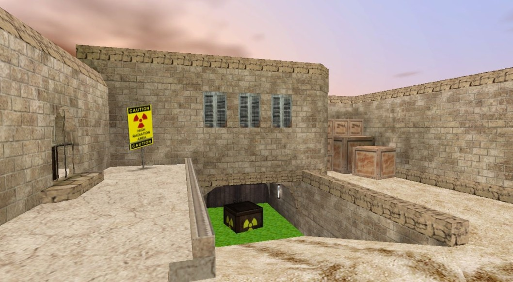 «de_dust2_3x3_nuclear_summer» для CS 1.6