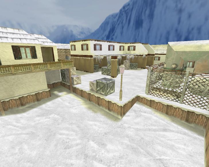 «de_inferno_snow» для CS 1.6