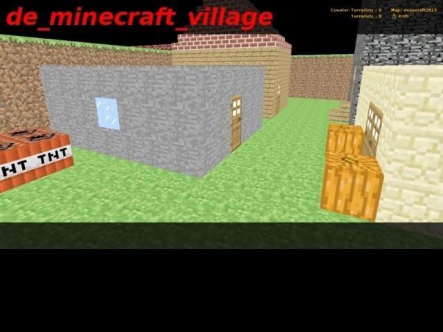 «de_minecraft_village» для CS 1.6