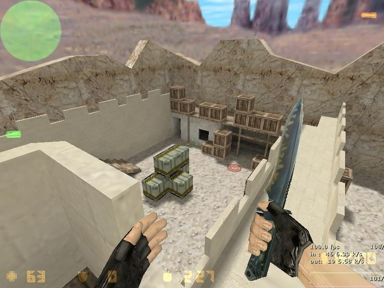 «de_sand_fortress» для CS 1.6