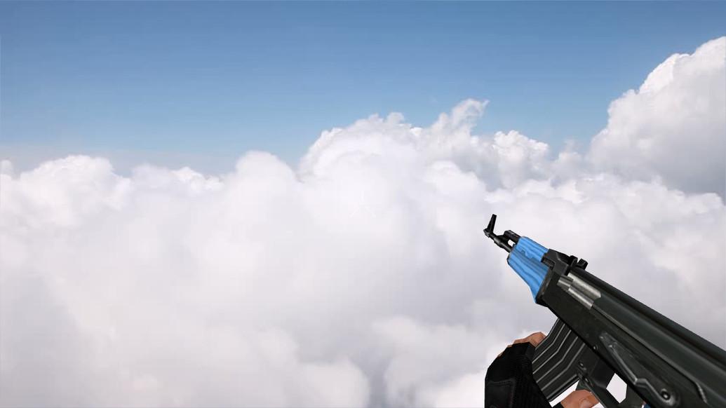 «Default AK-47 Blue Edition» для CS 1.6