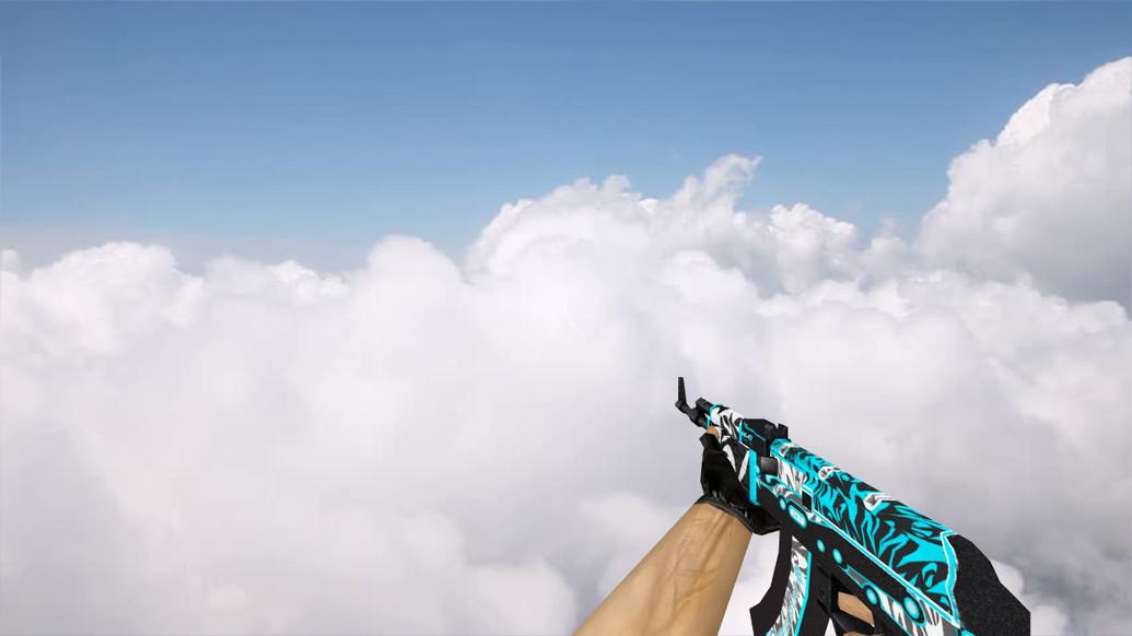 «Default AK-47 Frontside Misty» для CS 1.6