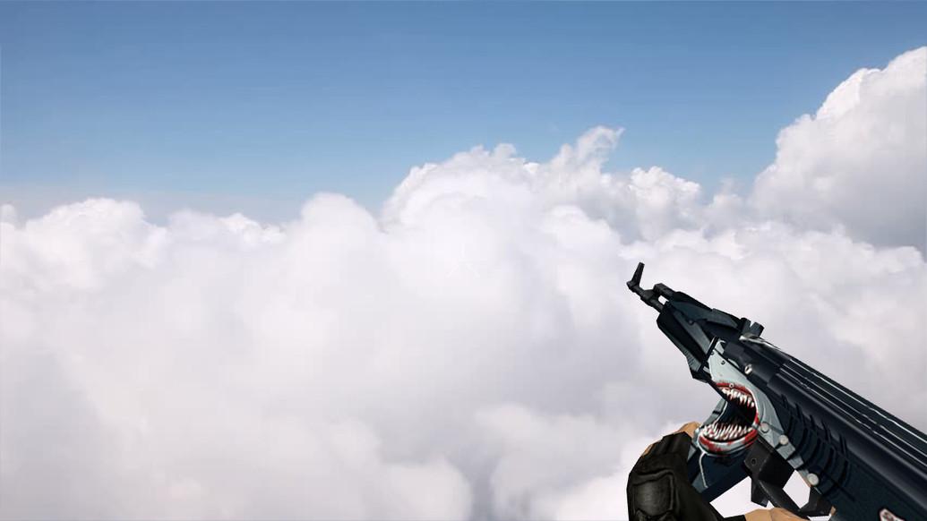 «Default AK-47 Shark Attack» для CS 1.6