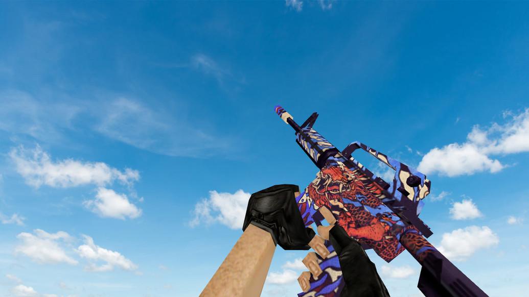 «Default M4A1 «Король драконов»» для CS 1.6
