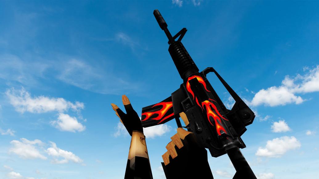 «Default M4A1 Firestyle» для CS 1.6