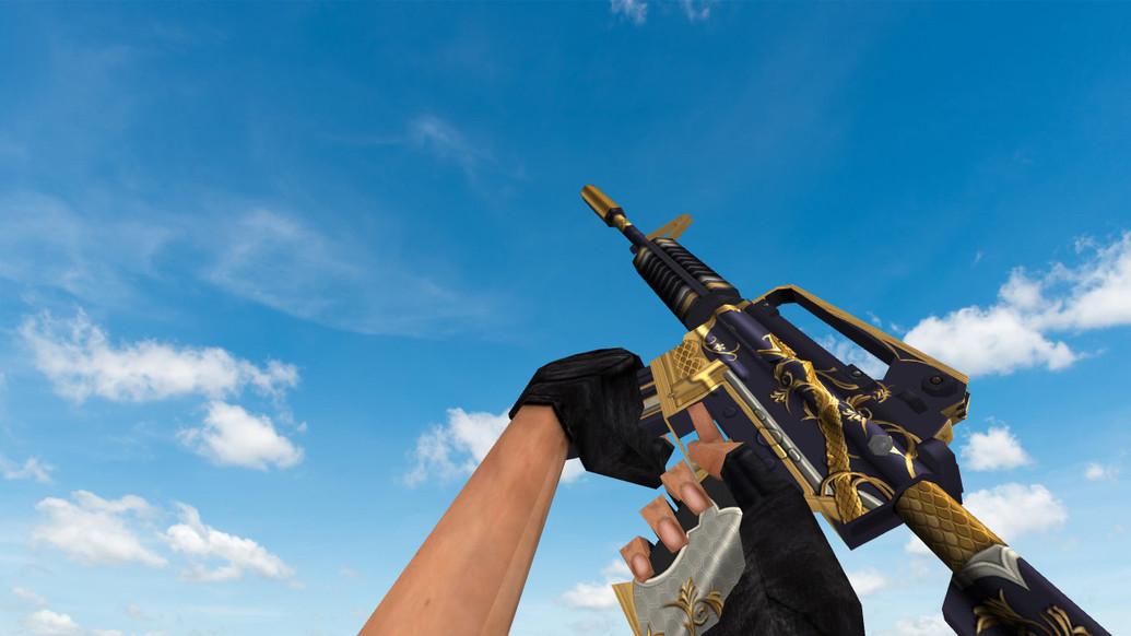 «Default M4A1 «Золотая спираль»» для CS 1.6