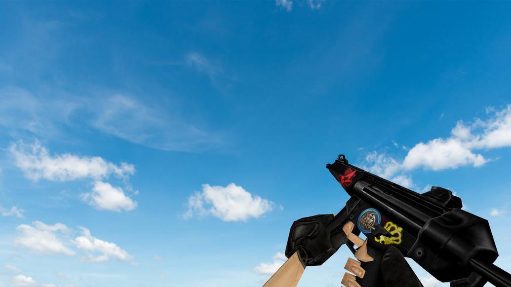 «Default MP5 w/ stickers» для CS 1.6