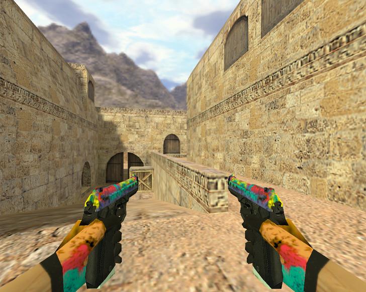 «Dual Elites Цветные» для CS 1.6