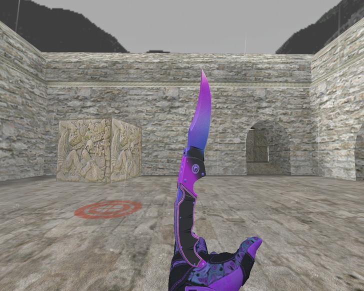 «Фальшион «Комета» + «Спортивные перчатки   Ящик Пандоры»» для CS 1.6