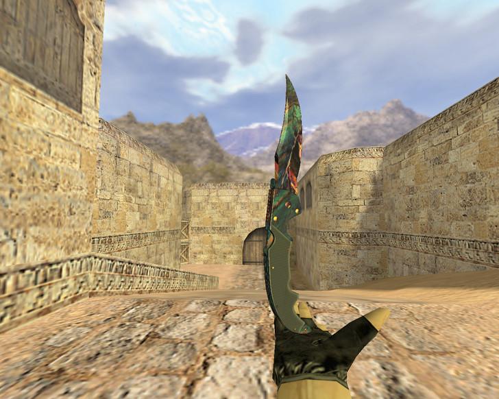«Нож Фальшион Волнение» для CS 1.6